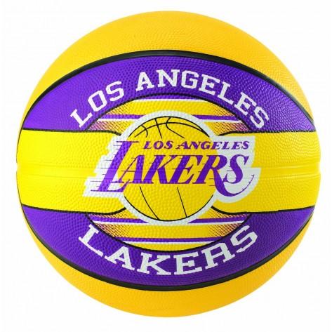 Bola Spalding TIME NBA Tamanho 7 Borracha Basketball - LA Lakers