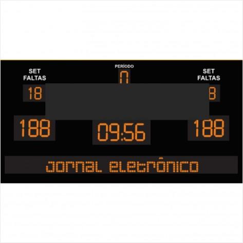 Placar eletrônico completo com Jornal Eletrônico - Modelo 02