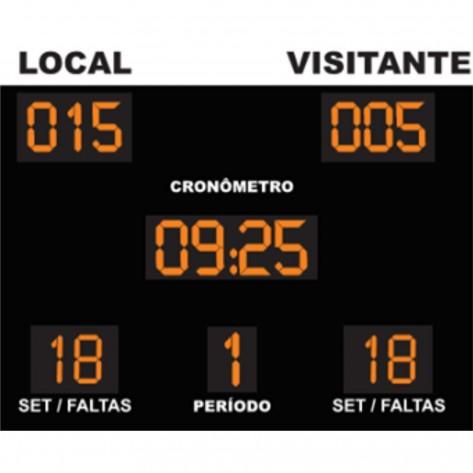 Placar Eletrônico Poliesportivo - Modelo 01