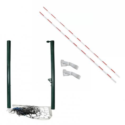 Poste de vôlei com rede e antena com suporte