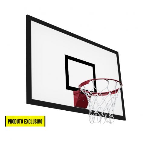 Tabela de basquete laminado naval 1,80m x 1,05m com aro profissional retrátil
