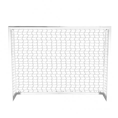 Traves de futsal modelo MONOBLOCO desmontável medindo 3,00m x 2,00m com Rede em fio 4mm 100% nylon com proteção UV.