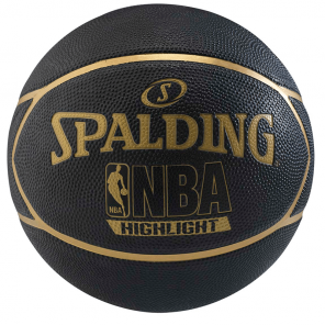 Bola Spalding NBA Black Highlight