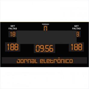 Placar Eletrônico completo com Jornal Eletrônico - Modelo 01