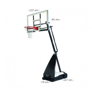 "Tabela de Basquete Spalding Móvel NBA 54"" Hybrid Pro - Vidro"