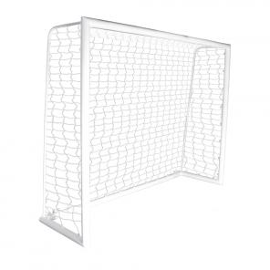 Trave de futsal modelo MONOBLOCO desmontável medindo 3,00m x 2,00m com Rede em fio 4mm 100% nylon com proteção UV