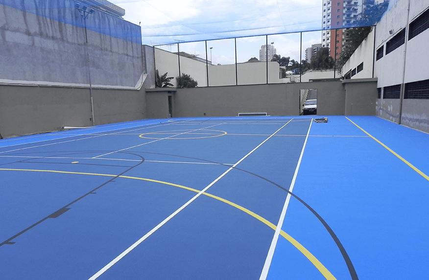 Pisos de concreto para quadra esportiva